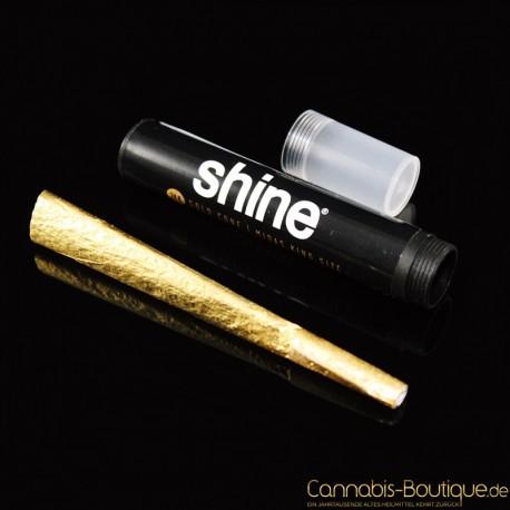 24 Karat Gold King Size Cone vorgedreht von Shine