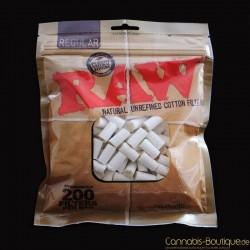 RAW Natur Drehfilter aus Baumwolle 200 Stück 6mm