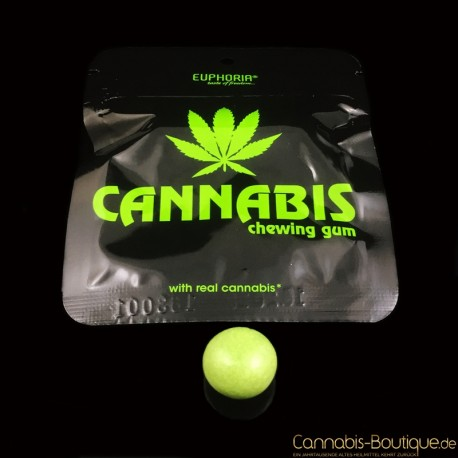 Cannabis Kaugummi von Euphoria ohne Zucker aus Cannabisblättern