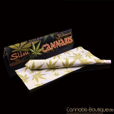 Spanish Paper KingSize Slim mit Cannabis-Aroma und Hanfblattmotiven